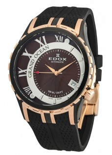 Ceas barbatesc Edox Grand Ocean Automatic Black