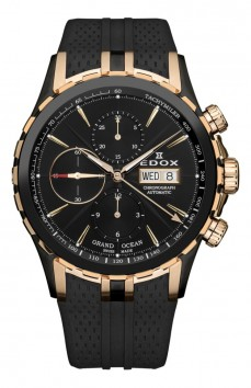 Ceas barbatesc Edox Grand Ocean Automatic Black Rose