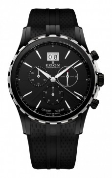 Ceas barbatesc Edox Grand Ocean Chronograph Steel Black 2