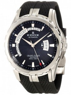 Ceas barbatesc Edox Grand Ocean DayDate Steel Black