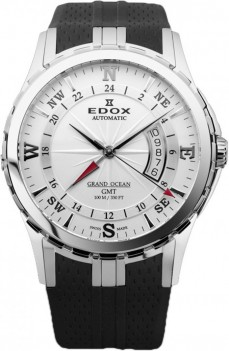 Ceas barbatesc Edox Grand Ocean GMT Steel