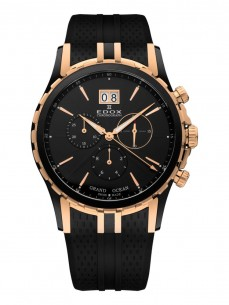 Ceas barbatesc Edox Grand Ocean Rose Gold Black