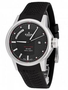 Ceas barbatesc Edox Rally Timer DayDate Steel Black 2