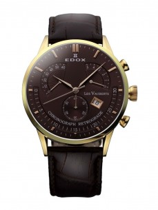 Ceas barbatesc Edox Vauberts Gold Brown