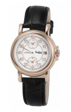 Ceas barbatesc Engelhardt Harold Rose Gold Black Leather
