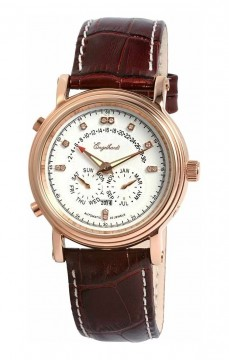 Ceas barbatesc Engelhardt Marcus Diamond Rose Gold White