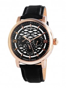 Ceas barbatesc Engelhardt Nestor Rose Gold Black