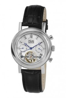 Ceas barbatesc Engelhardt Ramses Steel Black Leather