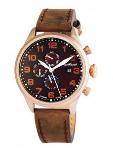 Ceas barbatesc Engelhardt Samuel Rose Gold Brown