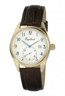 Ceas barbatesc Engelhardt William Gold Brown Leather