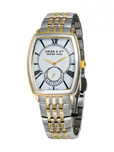 Ceas barbatesc Haas Cie Columbus Men Gold Steel White