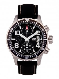 Ceas barbatesc Karl Breitner Aviator Steel Black