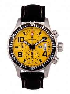 Ceas barbatesc Karl Breitner Aviator Steel Yellow
