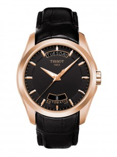Ceas barbatesc Tissot Couturier Automatic Day Rose Black