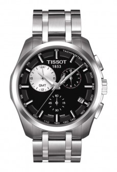 Ceas barbatesc Tissot Couturier Quartz GMT Steel Black 2