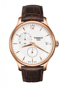Ceas barbatesc Tissot Tradition GMT Gold White