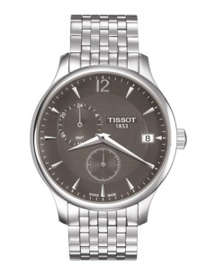 Ceas barbatesc Tissot Tradition GMT Steel Grey