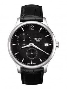 Ceas barbatesc Tissot Tradition GMT Steel Leather