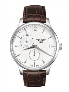 Ceas barbatesc Tissot Tradition GMT Steel Leather 2