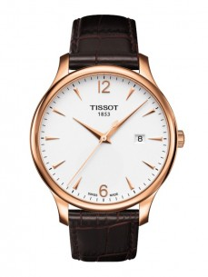 Ceas barbatesc Tissot Tradition Gent Gold White